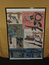 "WESTERN TOYS GUNS RIFLES COWBOY HOLSTERS STORE AD 32"" X 24"" POSTER"