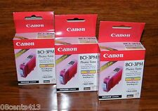 3 Genuine Canon (BCI-3PM) Photo Magenta Ink Cartridge (F47-2221-400) **NEW**