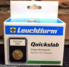 5 Lighthouse QUICKSLAB Holders 19mm Lincoln Cent Graded Coin Case SLAB