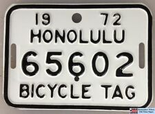 1963 1964 & 1972 Authentic Hawaii Genuine Antique Bicycle License Plate Mint Set