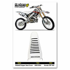 2002-2004 HONDA CRF 450 Ribbed GRIPPER White/Black Ribs by Enjoy MFG