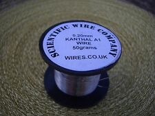 KANTHAL A1 0,20 mm ATOMIZZATORE wire 0,2 mm 50grams 190metres 32 Gauge