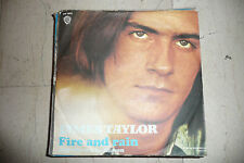 "JAMES TAYLOR""FIRE AND RAIN-disco 45 giri WB Italy 1971"""