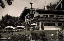 Reit im Winkl AK 1961 Oberbayern Cafe Pension Glapfhof Terrasse Urlaub Menschen