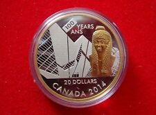 2014 Canada $20 100th Anniversary of the Royal Ontario Museum Fine Silver Proof