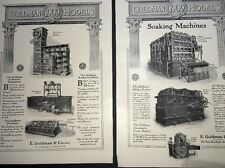 1909 Beer Ad Brewery Equipment Goldman Chicago  2 Pages Pasteurizing & Soakers