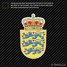 Danish Coat of Arms Sticker Decal Self Adhesive Vinyl Denmark flag DNK DK