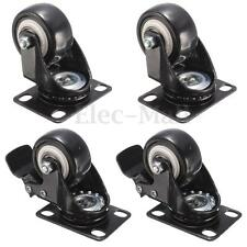 4x Heavy Duty 50mm PU Swivel Castor Wheels Trolley For Trolley Furniture Caster