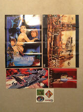 Lot 4 STAR WARS Posters + 4 Stickers Return Of The Jedi 20th Clone Wars Phantom