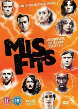 Misfits Complete Channel 4 TV Series All 37 Episodes 12 Disc DVD Box Set New