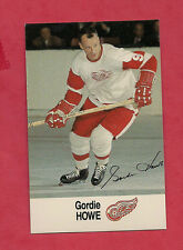 1988-89 DETROIT RED WINGS GORDIE HOWE   ESSO  CARD