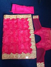 Indian Bollywood Latest Design Full Net Stone work Saree Party Wedding Wear