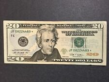 $20 Dollars Bill - Star Note, # JF08224489* Federal Reserve Note, Series 2009