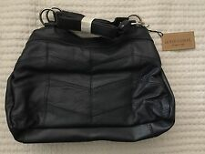 GOLD COAST NAVY LEATHER HANDBAG 3 PIECE WALLET CHANGE PURSE NWT