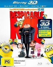 Despicable Me ( 3D Blu-ray, 2011, 3-Disc Set)