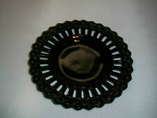 BLACK OPAQUE GLASS PLATE WITH GOTHIC BORDER