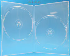 100PCS Generic 7mm SLIM  Size Double Clear DVD Cases