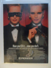 1989 Print Ad Pioneer 6 Disc Changer ~ Now you CD it, Now you Don't