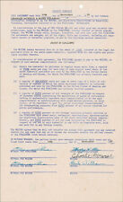 HANK WILLIAMS SR. - DOCUMENT SIGNED 11/10/1950 WITH CO-SIGNERS