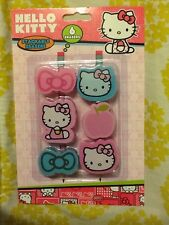 NEW Hello Kitty Stackable Erasers 6pcs Pink Blue Pencil School Party Favors