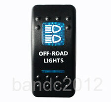 Blue OFF-ROAD LIGHTS Rocker Switch on-off/spst 5p for HILUX JEEP PATROL NISSAN
