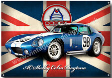 AC SHELBY COBRA DAYTONA METAL SIGN,CLASSIC CARS,RACE CARS,ICONIC AMERICAN CAR