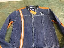 Womans,Honda, Zip-up, Denim Jacket; Size M