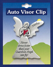 MOTHER NEVER DRIVE FASTER THAN YOUR GUARDIAN ANGEL CAN FLY - CAR SUN VISOR CLIP