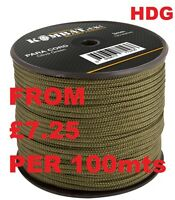 KOMBAT UK PARACORD PARACHUTE GREEN 15M 25M 50M 100M HEAVY DUTY 3mm Bivi TENT SAS