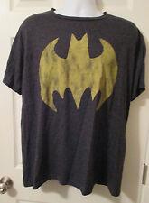 Batman DC Comics Super Hero Batman Bat Signal Logo Soft Distressed T Shirt XL