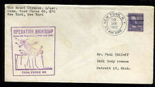 1947 Antarctic Expedition cover USS Mount Olympus