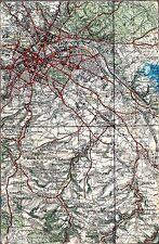 Dresden 1933 orig. Karte Sedlitz Dohna Kreischa Pillwitz Saida Bannewitz Leuben