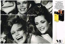 PUBLICITE  1972   TED LAPIDUS  parfum VU  (2 pages)