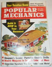 Popular Mechanics Magazine Portable Electric Drills February 1962 120414R