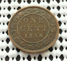 1858 Canada large cent ❀ Queen Victoria ❀ Key Bronze Coin