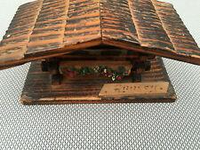 Ancienne boite vide poche bois ANNECY déco chalet Savoie art pop french antique