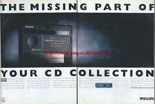 Philips DCC Digital Compact Cassette 1993 Double Page Magazine Advert #122