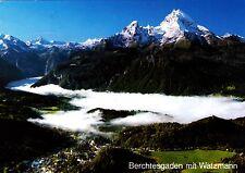 Berchtesgaden mit Watzmann , Ansichtskarte , 1992 gelaufen