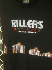 THE KILLERS Mr BRIGHTSIDE MUSIC BAND T SHIR PRINT FRONT& BACK BLACK SHORT SLEEVE