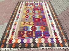 "Anatolia Turkish Nomads Antalya Kilim 66,9"" x 100,7"" Area Rug Kelim Carpet Wool"