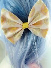 Sailor Moon Anime 90s Kawaii Fabric Hair Bow Sailor Scouts Pastel Hair Clip