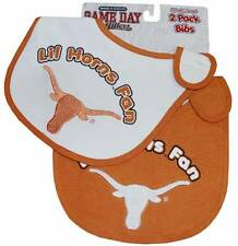 Texas Longhorns Lil Fan Infant Baby Bibs 2 Pack Officially Licensed