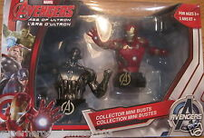 Avengers Age Of Ultron Collector Mini Busts Iron Man & Ultron Marvel Comics NEW