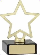 Small Star Award Trophy Engraved FREE ENGRAVING