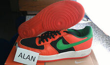 Nike Air Force 1 Low CARNIVAL ORANGE FLASH GREEN BLACK WHITE 307334-831 us10,5