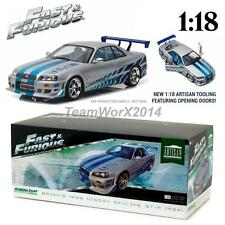 GREENLIGHT 19029 BRIAN'S 1999 NISSAN SKYLINE GT-R R34 DIECAST CAR 1:18 PRE SALE!