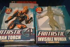 "Toybiz 2005 Fantastic Four Movie 12"" INVISIBLE WOMAN & HUMAN TORCH Action Figure"