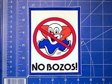 vtg 1980's skateboard sticker No Bozos Eddie Van Halen
