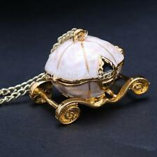 Pumpkin Carriage Necklace Cinderella vintage fairy tale locket pendant queens