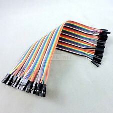 40x 20cm Female-Female jumper wire cable Kabel f Arduino Breadboard Drahtbrücken